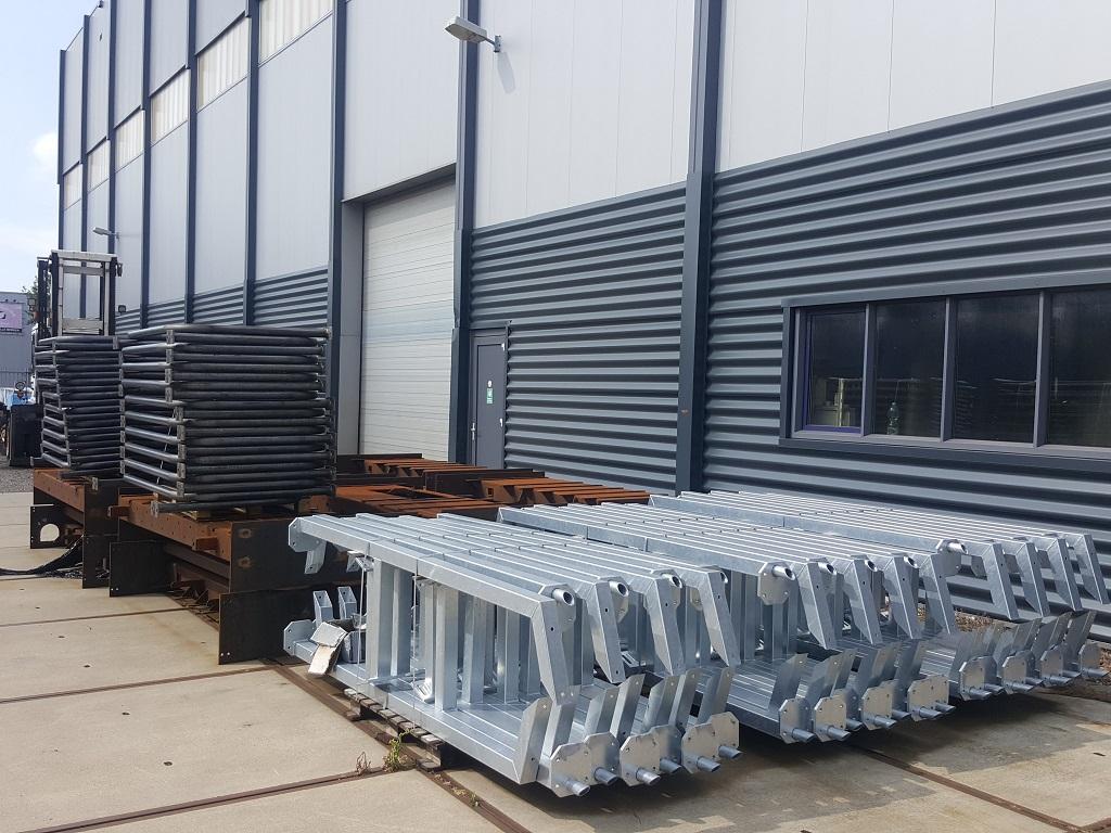 Produceren van grote staalconstructie delen