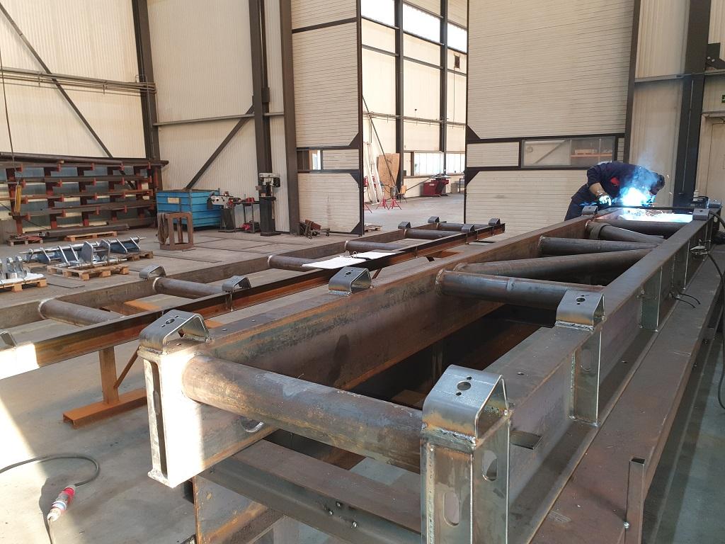 HVAC dak bordes voor een luchtbehandelingskast